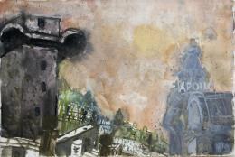 Rudolf Hradil - Wien 1991 Aquarell 38 x 57 cm (c) Galerie Welz