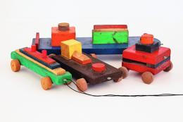 Howard Smith Toys, 1971 Holz, bemalt; Copyright beim Künstler