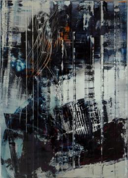 Hubert Scheibl, Cage Painting, 2012, Öl auf Leinwand © Hubert Scheibl | Foto: pixelstorm