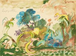 "Landschaft mit Luftgeistern in ""Der Sturm"" (William Shakespeare), Oskar Laske (1874–1951), 1925, Theatermuseum, Wien © KHM-Museumsverband"