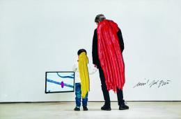 Josef Bauer,  Internetfoto mit Pinselstrich, 2018/19  Foto: © Belvedere, Wien, Johannes Stoll Courtesy Josef Bauer; Krobath, Wien; Galerie Karin Guenther, Hamburg