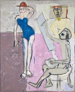 "John Kiki ""Heaven must have sent you"" 2016, Acryl auf Leinwand, 183 x 149 cm, (c) Galerie WOS, Pfäffikon-CH"