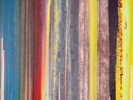 John M. Armleder, Divino, 2019, Mixed Media on Canvas, 350 x 700 cm, Detail, Courtesy David Kordansky Gallery LA, Foto: Julien Gremaud