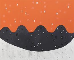 Jürgen Partenheimer, Nicht von dieser Welt, 2018, Öl auf Leinwand, 115 x 140 cm (c) Der Künstler und Häusler Contemporary München | Zürich Foto: Benedikt Partenheimer
