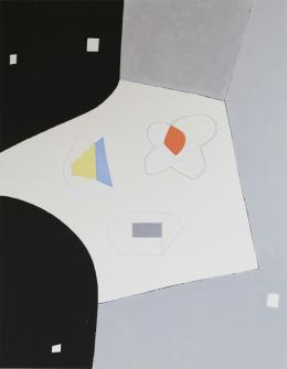 Jürgen Partenheimer,  Separate Spheres II, 2019, Öl auf Leinwand, 180 x 140 cm (c) Der Künstler und Häusler Contemporary München | Zürich Foto: Benedikt Partenheimer