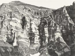 Nino Malfatti, Kanisfluh, L-Labyrinthisch vertikal, 2020, Bleistift/ Papier, Foto: Eric Tschernow