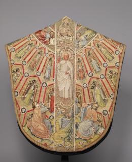 Kasel des Meßornats des Ordens vom Goldenen Vlies, (Rückseite) Um 1430/40 L. 149,5 cm, B. 135,5 cm © KHM-Museumsverband