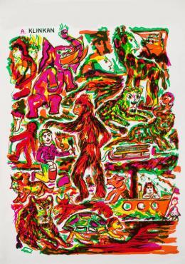 "Alfred Klinkan, Plakat Galerie ""De zwarte Panter"", Antwerpen 1981 (Detail),  Foto: Universalmuseum Joanneum/N. Lackner"