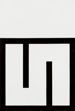Mäander, 1978,  Acryl/Leinwand, 190,2 × 130,1 cm, Foto: Boris Cvjetanović. Courtesy MSU – Museum für zeitgenössische Kunst, Zagreb, © Bildrecht Wien, 2020