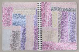 Tagebücher, 1975‒2003,  Farbige Kugelschreiber auf Notizbuchblättern, Foto: Boris Cvjetanović. Courtesy Nachlass des Künstlers, MSU – Museum für zeitgenössische Kunst, Zagreb, © Bildrecht Wien, 2020