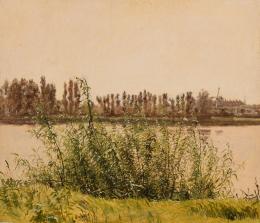 Christen Købke (1810–1848) Blick auf Dosseringen, Kopenhagen, mit Weiden im Vordergrund, um 1837 Öl auf Papier, 24,2 x 27,8 cm Ordrupgaard, Kopenhagen © Foto: Anders Sune Berg