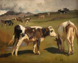 """Rudolf Koller, """"Ohne Titel"""", undatiert Öl auf Leinwand, 48.5 x 59 cm, Kunstmuseum Luzern, Leihgabe aus Privatbesitz"""