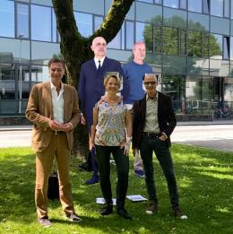 Kunst Raum Stadt, Projektpartner J.Weishäupl, Bgm A.Kaufmann, T.Häusle, digital: G.Matt und Erwin Wurm