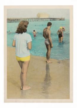 Badende (Coney Island), Künstler: Unbekannt, 1950-1960, handcolorierter Silbergelatineabzug, 17.7 x 12.6 cm © as a collection by Jacques Herzog und Pierre de Meuron Kabinett, Basel. All rights reserved.