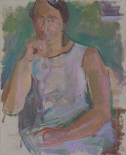 Kaspar Ilg, Bildnis Anita Ilg, um 1980, Öl auf Leinwand, Museum zu Allerheiligen, Schenkung Kaspar und Anita Ilg, Foto Jürg Fausch