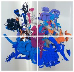 Raphael Spielmann Laokoon, 2018 Acrylic Painting and Screen Printing on AluDibond.  Photo: Raphael Spielmann