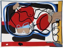 Le Corbusier (1887–1965), Kanapee II, 1963. Ateliers Pinton, Aubusson, 191 × 251 cm, Wolle; Sammlung Mobilier national. © Fondation Le Corbusier / VG Bild-Kunst, Bonn 2019, Foto: Isabelle Bideau