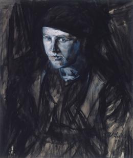 Portrait einer jungen Frau, 1889 Schwarze Tusche, Kohle auf Papier Privatsammlung, New York