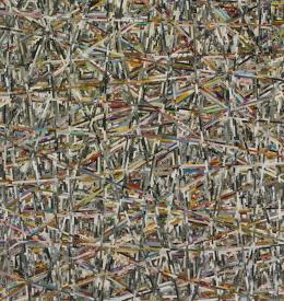 Lejo, zueinander, 2020, Fotocollage auf Aluplatte, 80,1 x 75 cm, Courtesy Galerie Gugging