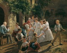 Ferdinand Georg Waldmüller, Am Fronleichnamsmorgen, 1857 © Belvedere, Wien / Leihgabe des Vereins der Freunde der Österreichischen Galerie Belvedere