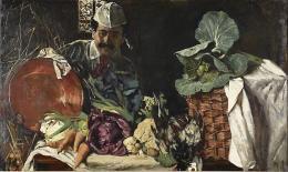 Max Liebermann, Selbstbildnis mit Küchenstillleben, 1873, Kunstmuseum Gelsenkirchen, Foto: Martin Schmüdderich