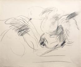 Liegende Puppe - 1962 - Bleistift auf Papier, 64,5 x 76,7 cm signiert und datiert rechts unten (c) Galerie Welz