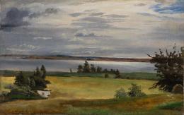 Johan Thomas Lundbye (1818– 1848) Eine Wiese nahe des Arresø-Sees, 1838 Öl auf Papier, 21 x 33 cm Ordrupgaard, Kopenhagen © Foto: Anders Sune Berg