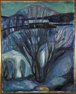 Edvard Munch: Winter Landscape from Kragerø, 1910. Öl auf Leinwand, 94 × 96 cm; Munchmuseet, Oslo. Foto: © Kunstsammlung NRW