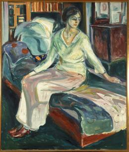 Edvard Munch: Seated Model on the Couch, 1924-26. Öl auf Leinwand, 136,5 x 115,5 cm; Munchmuseet, Oslo. Foto: © Kunstsammlung NRW