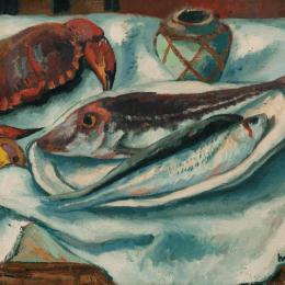 """Henri Manguin, 1874 – 1949, """"Poissons et crabe"""", 1923, Privatbesitz"""