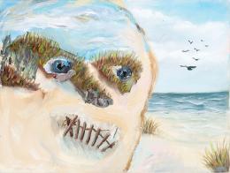 Margot Bergman: Grama's Gift, 2009. Acryl auf Leinwand, 25,4 x 33 cm; Courtesy of Margot Bergman
