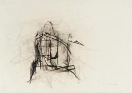 Maria Lassnig, o.T. 1951, Kohle auf Papier, 43 × 61 cm, Sammlung Ploil, Foto: Christoph Fuchs © Maria Lassnig Stiftung / Bildrecht, Wien 2020