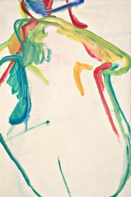 Maria Lassnig Dicke Grüne, 1961 Öl auf Leinwand Maria Lassnig Stiftung © Maria Lassnig Stiftung