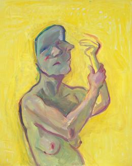 Maria Lassnig Die gelbe Hand, 2000 Öl auf Leinwand Maria Lassnig Stiftung © Maria Lassnig Stiftung