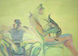Maria Lassnig Krebsangst, 1979 Öl auf Leinwand Albertina, Wien – Dauerleihgabe aus österreichischem Privatbesitz © Maria Lassnig Privatstiftung