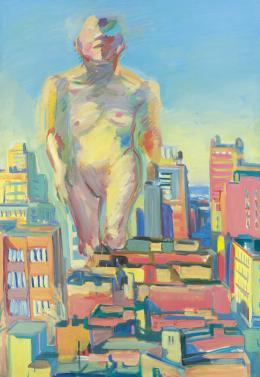 Maria Lassnig Woman Power, 1979 Öl auf Leinwand Albertina, Wien |Sammlung Essl © Graphisches Atelier Neumann, Wien