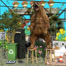"""Mark Sabb (Felt Zine), Bear Land"""", 3D Image (jpg), 2019"""