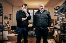 Stefan (links) und Bernhard Marte von Marte.Marte Architekten (© Lukas Hämmerle)