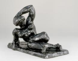 Henri Matisse, Nu couché I (Aurore), 1907 Bronze, 34,4 x 49,9 x 27,9 cm The Baltimore Museum of Art: The Cone Collection, formed by Dr. Claribel Cone and Miss Etta Cone of Baltimore, Maryland. Foto: Mitro Hood © Succession Henri Matisse/ 2019 ProLitteris, Zurich