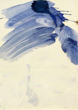 Max Weiler, Als alle Dinge ... blau, 1961 Eitempera auf Papier Albertina, Wien © Robert Najar