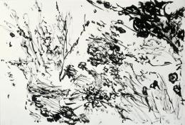 Max Weiler, Ohne Titel, 1967 Pinsel in Tusche auf Papier Albertina, Wien © Robert Najar