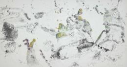 Max Weiler, Vielfältig und reich an Formen, 1980, Kohle, Wachskreiden auf Papier auf Leinwand kaschiert © Albertina, Wien