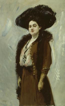 Dame in Braun (Else Berna), 1908, Öl auf Leinwand, 140 × 90 cm, Kunstsammlungen Chemnitz, Foto: May Voigt