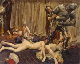 Der Ritter und die Frauen, 1903, Öl auf Leinwand, 160,5 × 205 cm, Staatliche Kunstsammlungen Dresden, Galerie Neue Meister, Foto: Elke Estel, Hans-Peter Klut