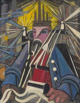 Elisabeth Voigt, Der Maschinenmann (Der Unternehmer), 1948, MdbK, © Nachlass Elisabeth Voigt