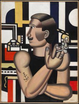 Fernand Léger: Le Mécanicien, 1920. Öl auf Leinwand, 116 x 88,8 cm; National Gallery of Canada, Ottawa. © VG Bild-Kunst, Bonn 2018; Foto: NGC