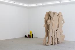 Ausstellungsansicht, over the bed, under the skin, inside the head, Hamlet Zürich, 2021, Foto: Patrick Cipriani