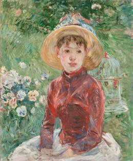 Berthe Morisot (1841–1895) Junges Mädchen im Gras (Mlle Isabelle Lambert), 1885 Öl auf Leinwand, 74 x 60 cm Ordrupgaard, Kopenhagen © Foto: Anders Sune Berg
