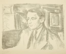 Edvard Munch,  Bildnis des Kunsthändlers Wolfgang Gurlitt, 1912  Museum im Kulturspeicher Würzburg © Bildrecht, Wien 2019 | Foto: Andreas Bestle