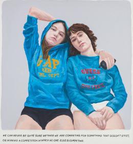 Muntean / Rosenblum, Untitled (We can never be quite sure…), 1999, Acryl auf Leinwand, 110 x 100 cm © Courtesy Sammlung Dr. Fuchs Wien